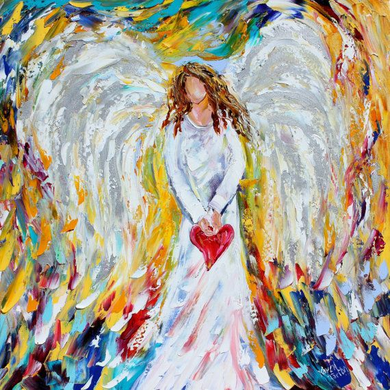 Angel of My Heart PRINT on canvas made from image of past oil painting by Karen Tarlton fine art impressionism