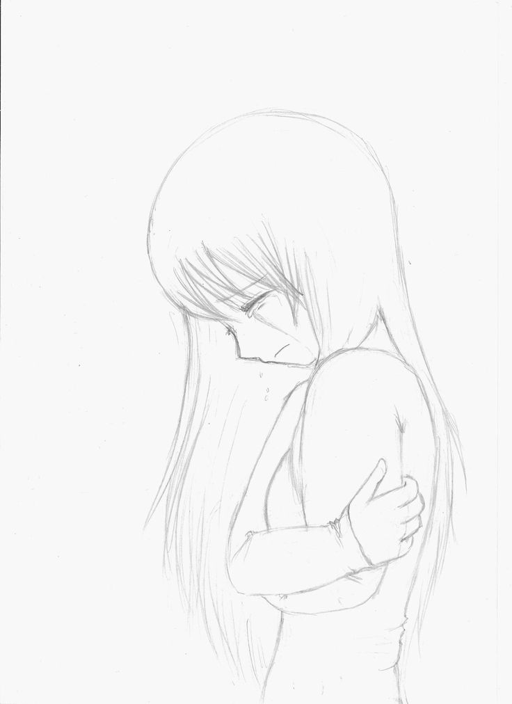 Dark anime drawing girls pencil drawings quotes lonely crying drawing drawing drawings in pencil qoutes
