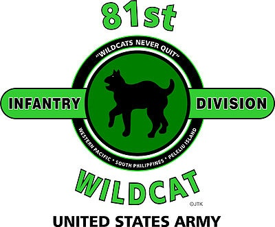 """81st Infantry Division"""" Wildcat"""" United States Army Shirt"""