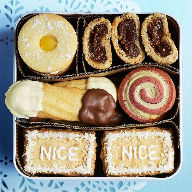 It's National Biscuit Day! What's your favourite biscuit tin classic? Find the recipes for our sticky toffee fig rolls, double chocolate shortbread fingers, lemon sherbert jammy dodgers, strawberry & cream roly-polys and vegan coconut Nice biscuits online at @bbcgoodfood, then get the kettle on! ☕️