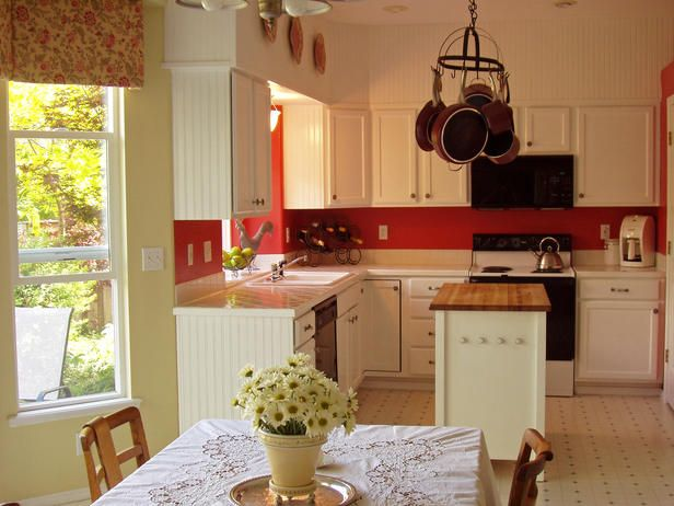 Cottage Kitchen - all about simplicity.  Relaxed and informal.  Look for cabinetry and furniture in light woods or paint existing in low-sheen white
