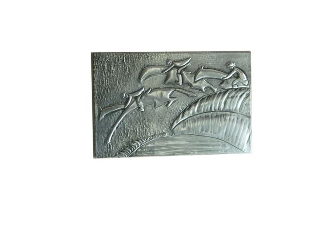 Wall Decor Pewter Embossed SteepleChase  £25.00