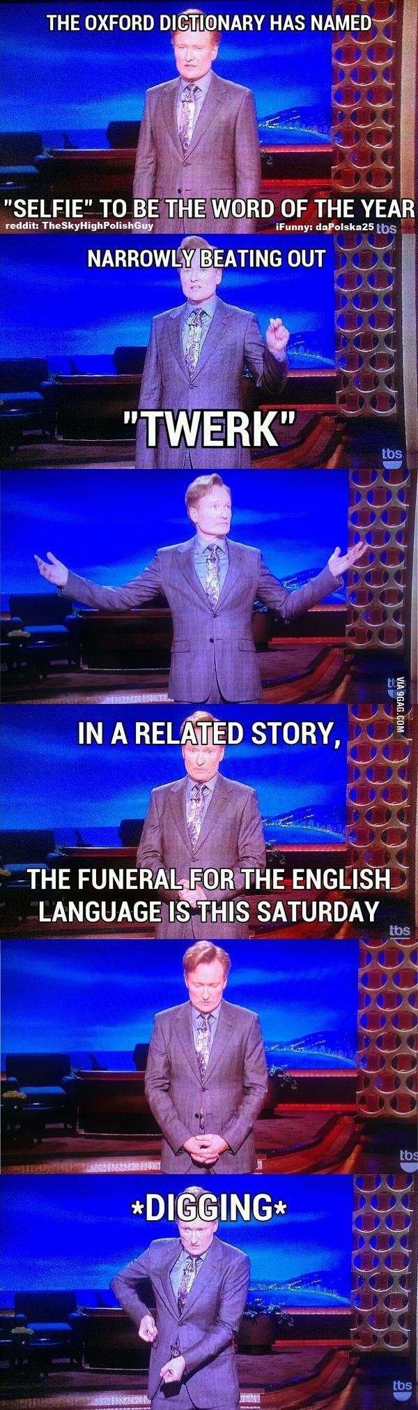 The death of the English language - Conan O'Brien