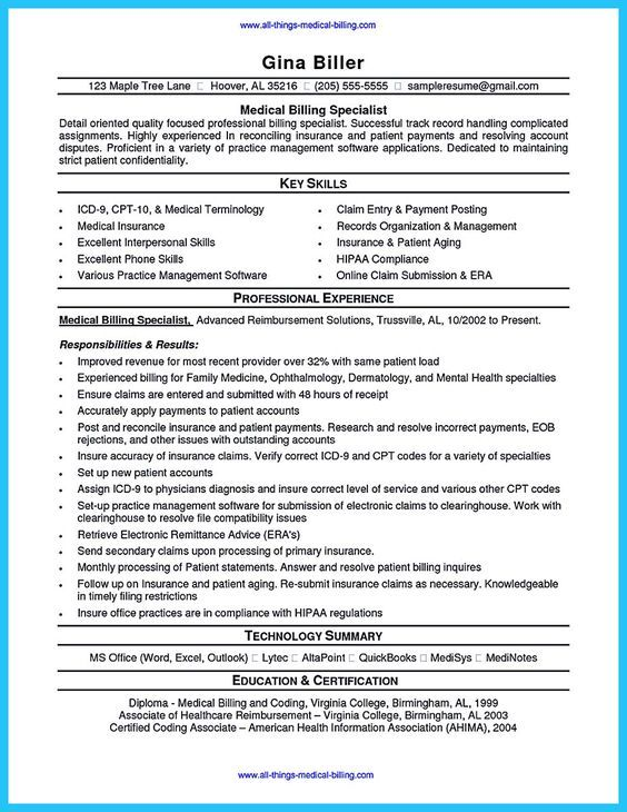 Some people are trying to get the billing specialist job. If you're also interested in this job, you should make the best billing specialist resume ... medical billing and coding specialist resume examples with government billing specialist resume Check more at http://www.resume88.com/exciting-billing-specialist-resume-that-brings-the-job-to-you/