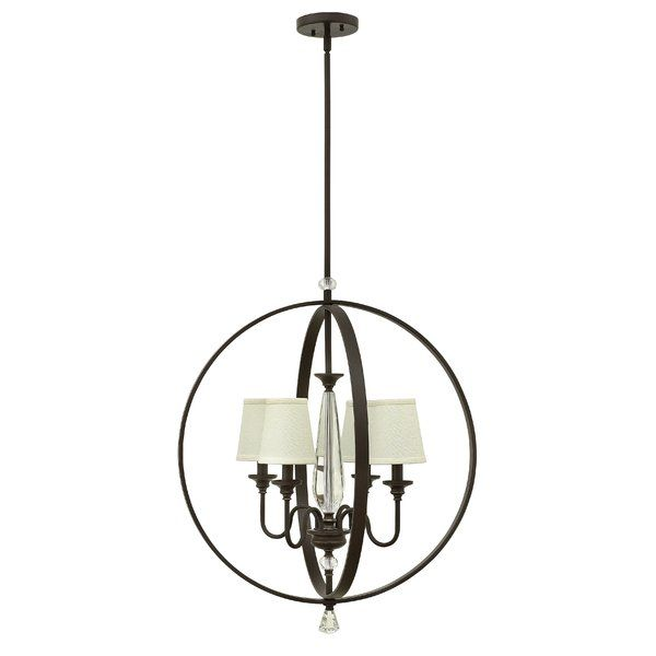 buy the hinkley lighting oil rubbed bronze direct shop for the hinkley lighting oil rubbed bronze 4 light 1 tier cage chandelier with white cone shades