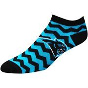 Carolina Panthers Women's Chevron Stripes Ankle Socks – Black