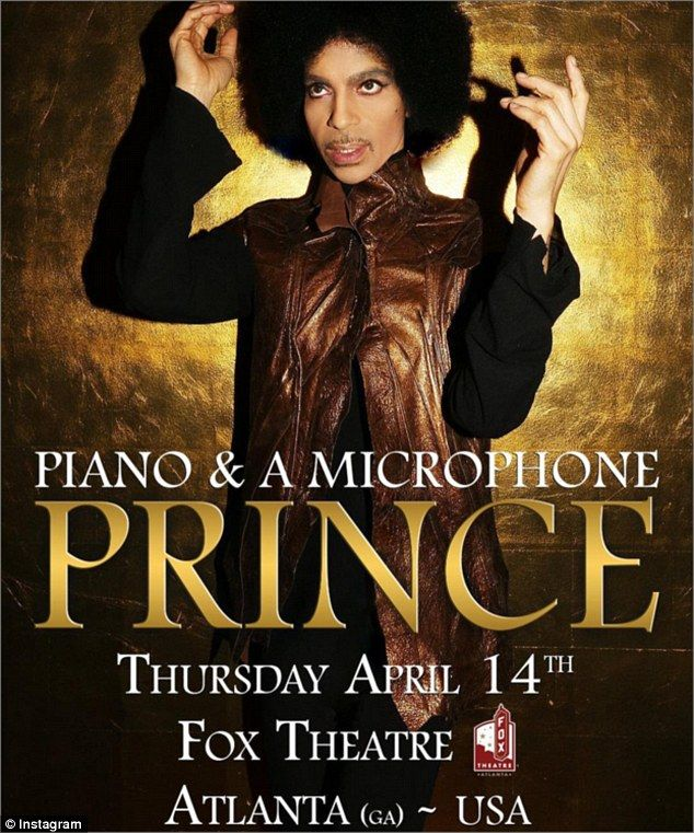 No problems: The Purple Rain hitmaker had performed at The Fox Theatre in Atlanta on Thurs...