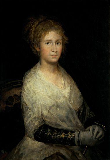 Francisco José de Goya - Portrait thought to be Josepha Bayeu (d.1812) the Artist's Wife