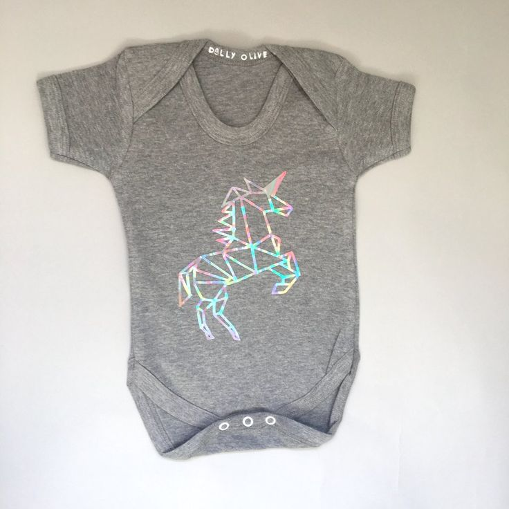 Geometric Unicorn Baby Onesie, unicorn baby outfit, unicorn baby clothes