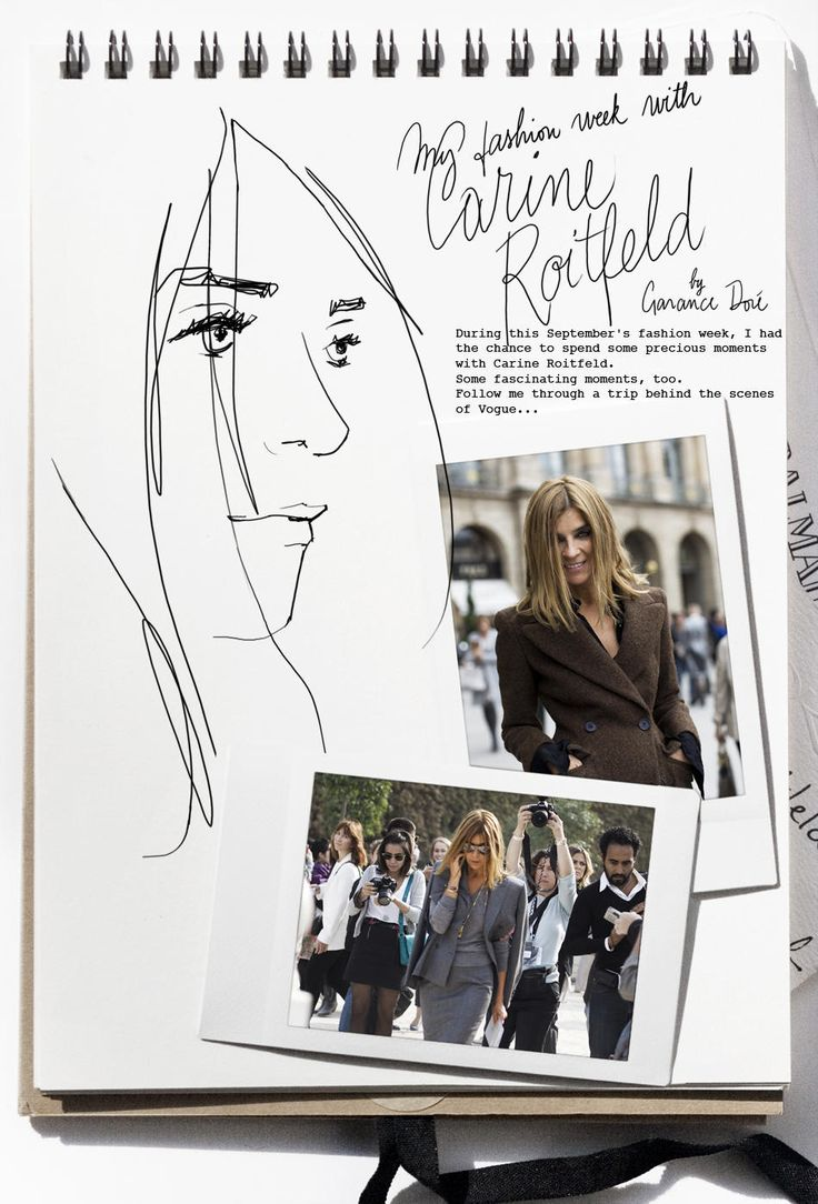 I had the chance to follow around Carine Roitfeld during the fashion weeks.