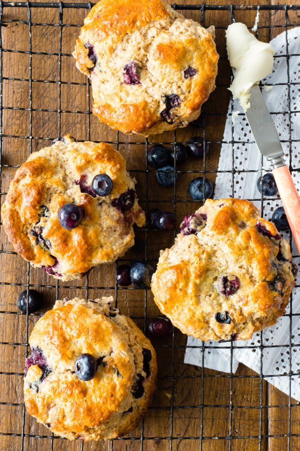Blueberry scones made with wholesome spelt flour