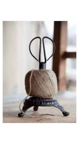 Cast Iron Stand Twine Holder and Scissors - traditional - desk accessories - other metro - Farmhouse Decor