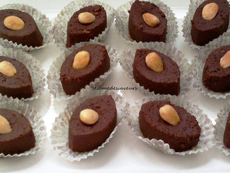Petits gâteaux au chocolat (sans cuisson) , Le Sésame Des Saveurs