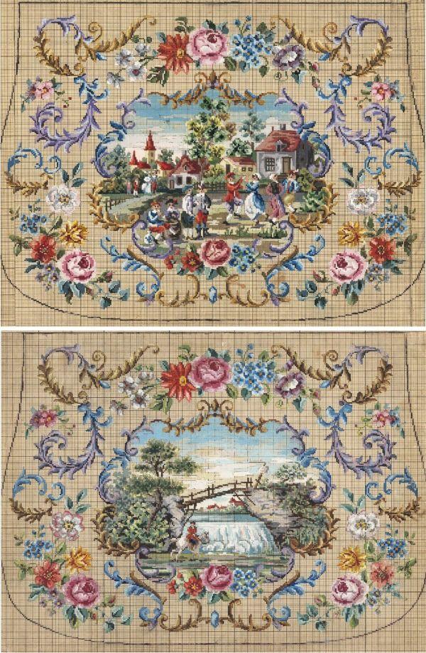 Для тех, кто хочет вышить что-то особенное, я подобрала коллекцию старинных французских и голландских схем для вышивки крестиком. Это цветочные, растительные, живописные ботанические и анималистические мотивы, орнаменты в стиле рококо, старинные пейзажи, а также пасторальные сцены с изображением жизни людей. Многие узоры, которые здесь представлены, называются Petit Point. Petite в п…