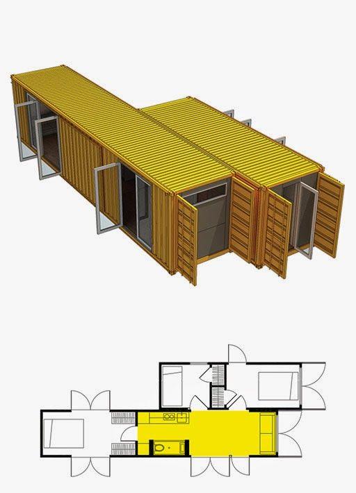 Best 25 underground house plans ideas on pinterest - Casa hecha de contenedores ...