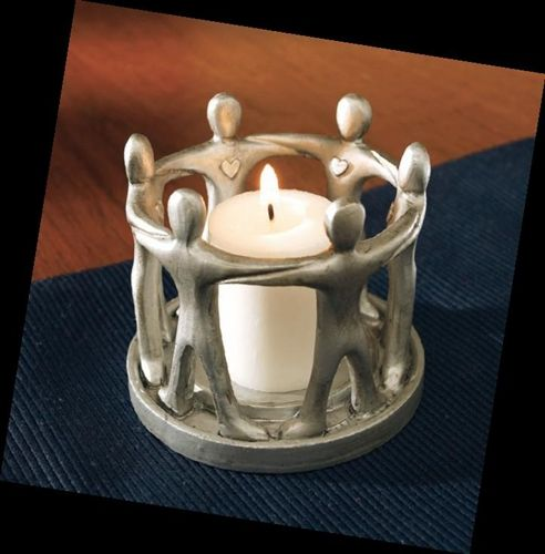 circle of friends clay candle holders images   Circle of Friendship Votive Candle Holder - MrsBargains.com