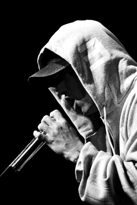 """""""That's what they want, they want you Marshall, they keep.. screamin' your name  It's no wonder you can't go to sleep, just take another pill  Yeah, I bet you will. You rap about it, yeah, word, k-keep it real""""  — Eminem (When I'm Gone)"""
