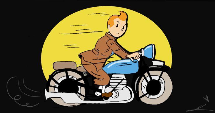 ::Tintin's Motorbike:: by pinkie-cupcake on DeviantArt