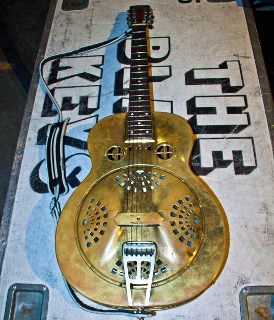Dan Auerbach's mid-'30s Dobro spider-bridge brass resonator