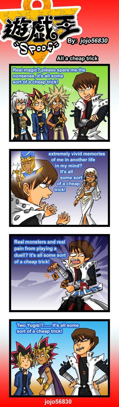 *facepalm*  Yu-Gi-Oh!  YGO Spoof: cheap Trick by jojo56830.deviantart.com on @deviantART