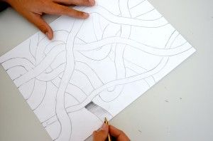 Ribbons interwoven with a common thread -collaborative project