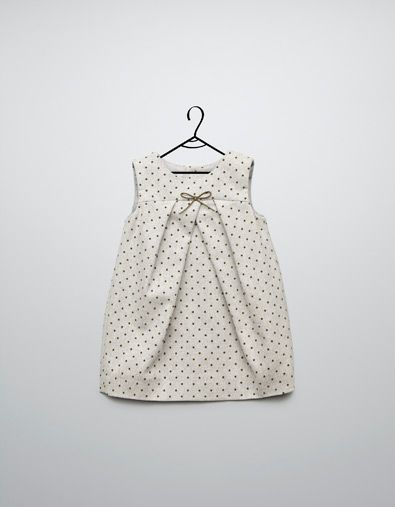 polka dot pinafore dress