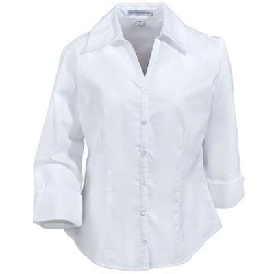 Very flattering to most. Buy a size larger and have tailored if buttons pull.