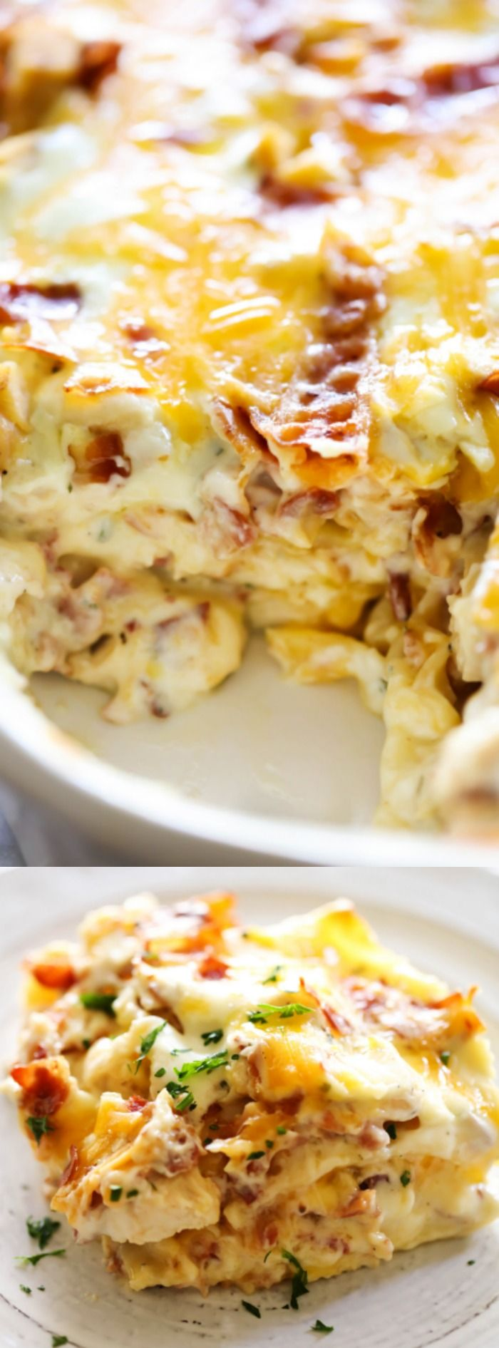 This Chicken Bacon Ranch Lasagna from Chef in Training is pretty much the stuff…