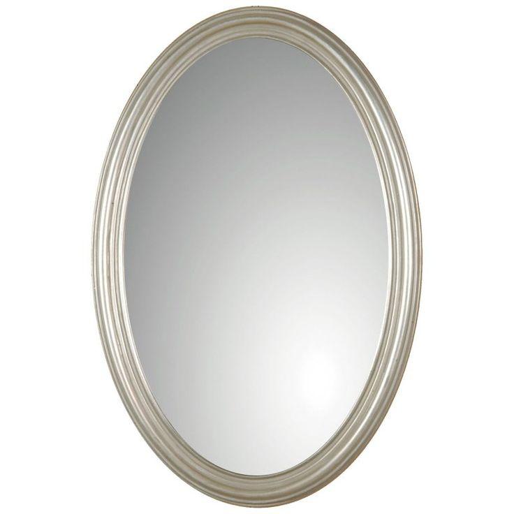 Uttermost Franklin Oval Silver Wall Mirror - 21W x 32H in. - 08601 P