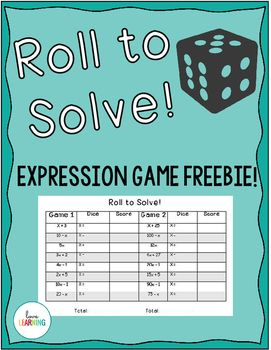 FREE Math Expressions Partner Game. Includes two different versions for differentiation. Covers CC Standards: 5.OA.A.2, 5.OA.B.3