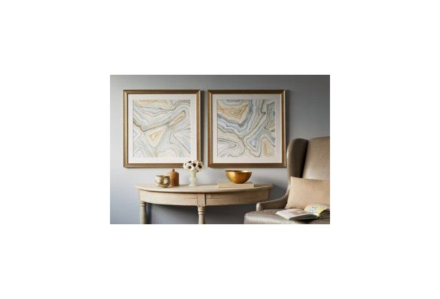 Agate Abstract I & II from One Kings Lane 26x26 giclee prints