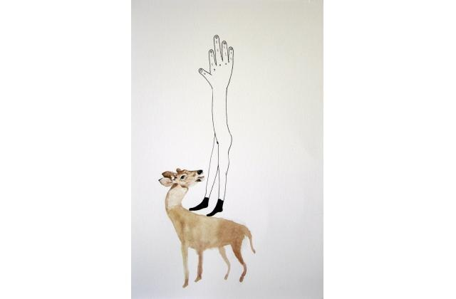An Impolite Monument (Collaboration Erik Jerezano & Kristin Bjornerud)  |Encre et aquarelle sur papier (ink and watercolour on paper) |2010