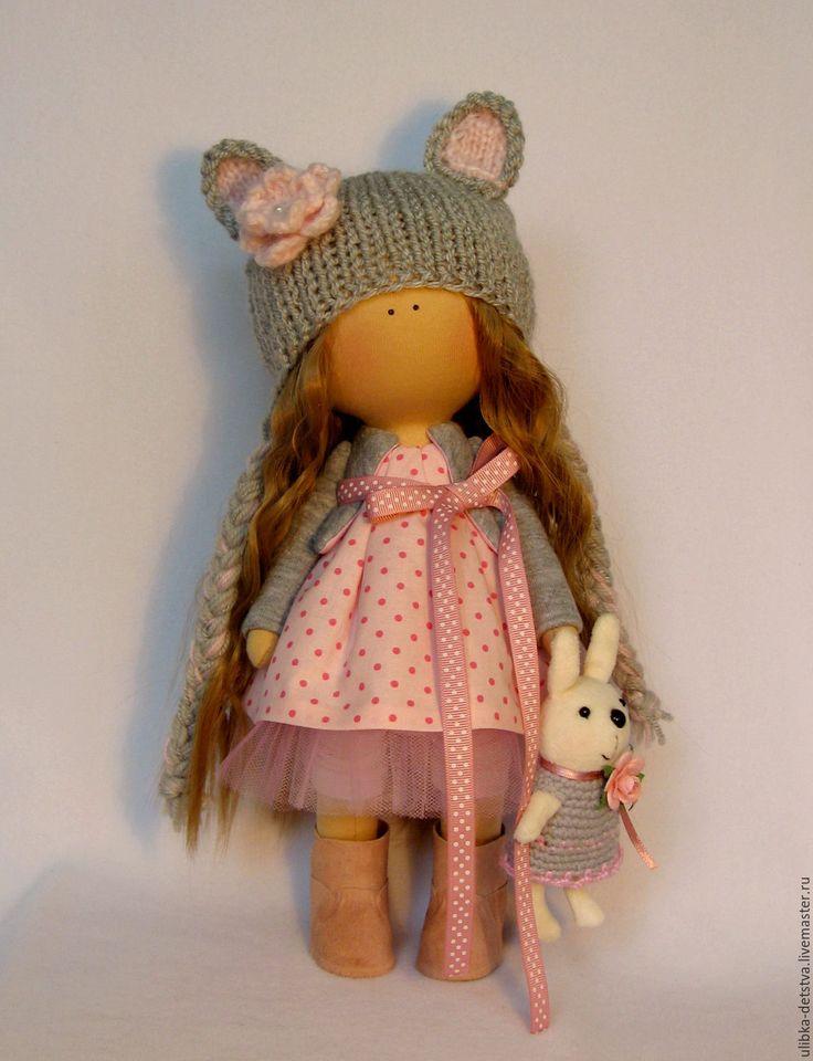 Купить Куколка Мышка - куколка ручной работы, текстильная кукла, кукла в подарок