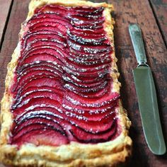 Medieval Red Wine Peach Tart More