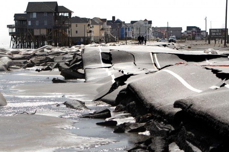 Hurricane Sandy buckles N.C. 12 on Hatteras Island