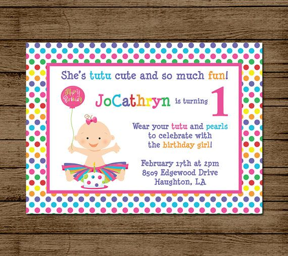 Customized Birthday Invitation