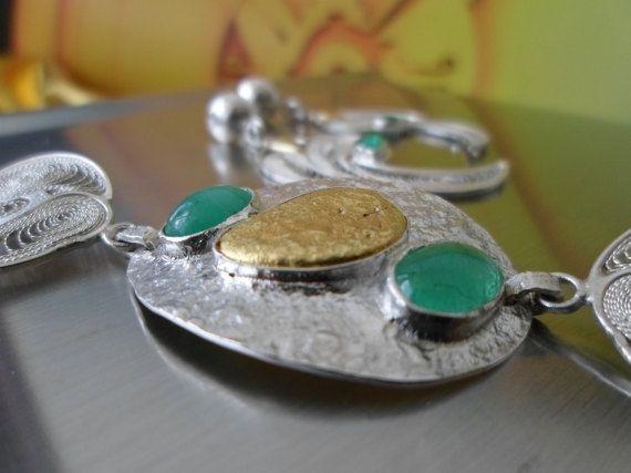 Handmade Emerald and Natural 22k Gold by ElDoradoGoldCompany