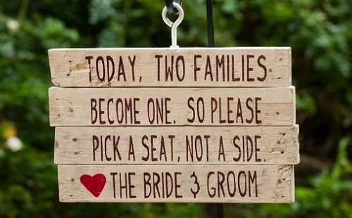 Getting married isn't just the union of two individuals...it's the union of two families.  And that's not always an easy thing!