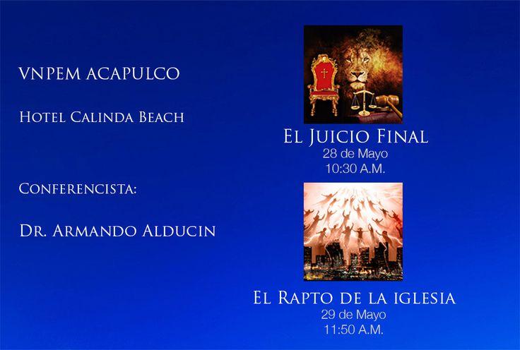 """Te esperamos este 28 y 29 de mayo en el """"Hotel Calinda"""" Av Costera Miguel Alemán 1260, Fraccionamiento Club Deportivo, Acapulco, GRO, México. C.P. 39690"""
