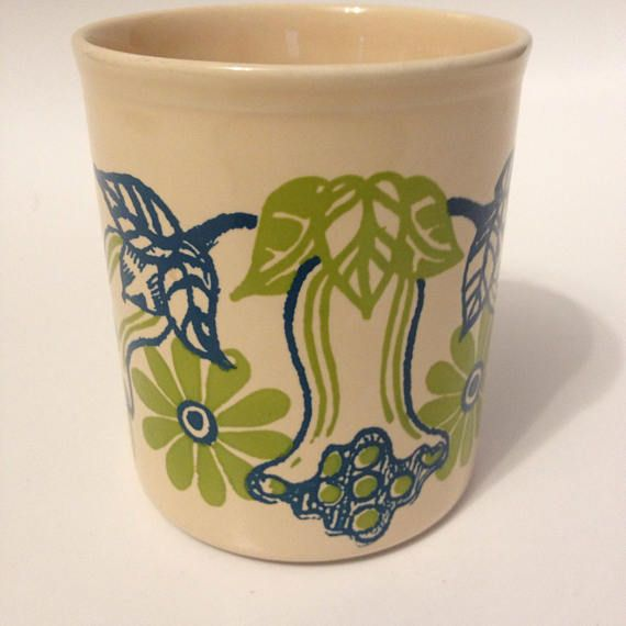 Staffordshire Potteries Mug Ironstone Made in England 1976