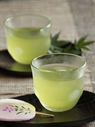 Japanese cold green tea