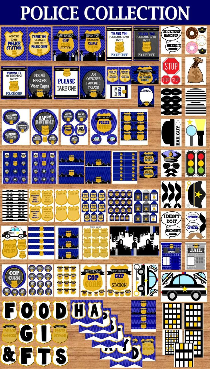 Big happy birthday badges party products party delights - Police Party Policeman Birthday Police Officer Complete