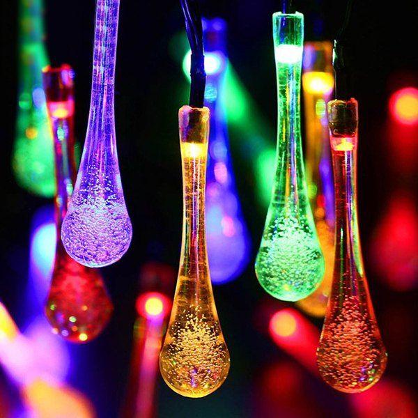 Solar Waterdrop Led String Light Christmas Decoration