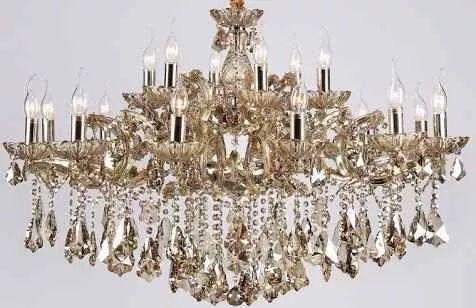 lustre candelabro cristal maria teresa 18 braços - âmbar