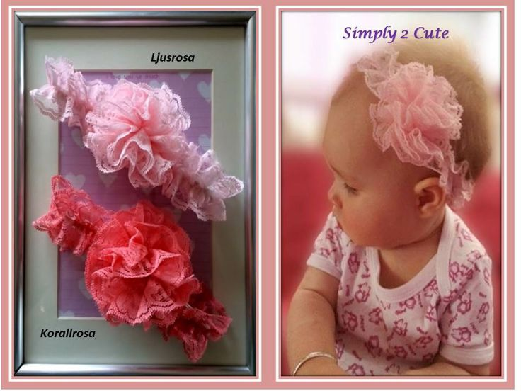OLIVIA - elastic lace headband with lace flower. Perfect accessory to our RITA, POLLY or REBEKKA rompers or our LOTTA and ALICE dresses! To purchase http://simply2cute.tictail.com/product/olivia