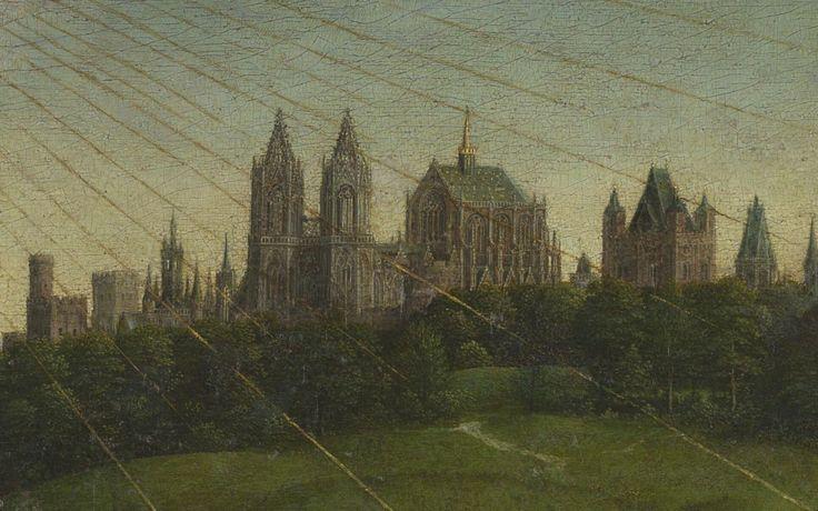 The Ghent Altarpiece, 1432  Artists: Hubert van Eyck, Jan van Eyck  The altarpiece consists of 12 panels, eight of which are hinged shutters.