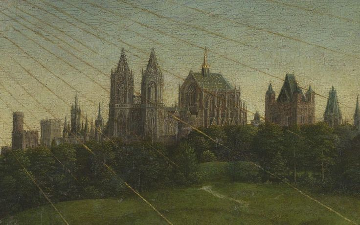 The Ghent Altarpiece, 1432  Artists: Hubert van Eyck, Jan van Eyck  The altarpiece consists of 12 panels, eight of which are hinged shutters.
