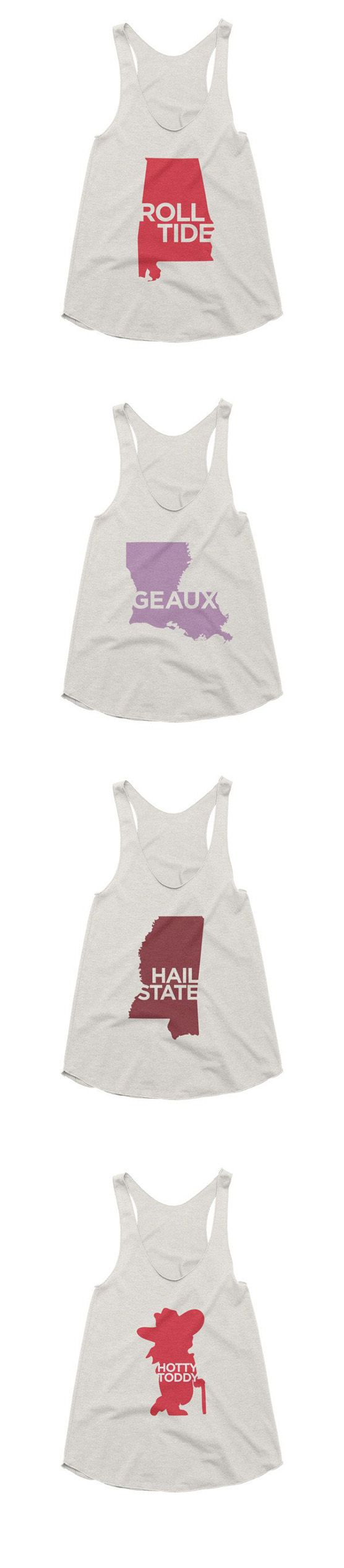 LSU, Alabama, Ole Miss, Mississippi State Graph Tank Tops #82and1