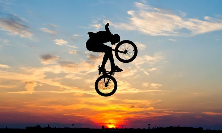 Bmx Eagle Fly Trick Sunset For More Great Pics
