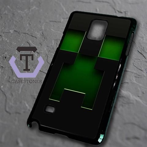Black Creeper Face Minecraft Samsung Galaxy Note Edge Black Case